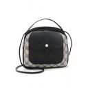 Fashion Printed Flat Pocket Front Crossbody Satchel Bag 18*8*18 CM