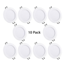 5 Inch 12W Recessed Light Pack of 10 Circle LED Light Fixture in Warm White for Mall Office