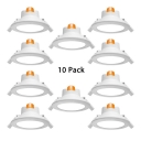 (10 Pack)7W Wireless Flush Mount Recessed 4.5-5 Inch Slim Panel LED Light Recessed in Cool White/Warm White