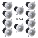 (6 Pack)18W Wireless COB Recessed Down Light Circle Flush Mount Recessed Light Fixture Recessed in White/Warm White/Neutral