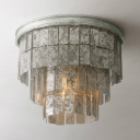 European Style Flush Mount Ceiling Fixture 1/3 Lights Glass Ceiling Light Fixture for Dining Room