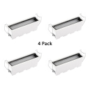 (4 Pack)Easy to Install Wireless Recessed Lighting Aluminum Linear LED Flush Mount Recessed in White/Warm for Coffee Shop