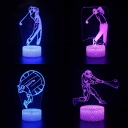 Boy Girl Bedroom 3D Night Light with Touch Sensor 7 Color Changing Touch Sensor LED Illusion Lamp