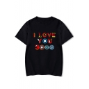Summer Trendy Colorful Letter I Love You 3000 Short Sleeve Unisex Casual T-Shirt