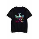 Cool Unique Colorful Dragon Dracarys Printed Short Sleeve Unisex T-Shirt
