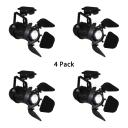 (4 Pack)Angle Adjustable Black Spot Light Shop Foyer 1 Light High Brightness Track Lighting in White/Warm White
