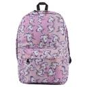 Popular Unicorn Printed Pink School Bag Backpack 27*10*42 CM