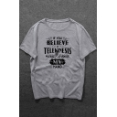 Hot Popular Letter IF YOU BELIEVE Round Neck Short Sleeve Graphic T-Shirt