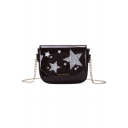 New Fashion Star Printed Patent Leather Long Strap Crossbody Bag 18*5*14 CM