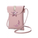 Fashion Sequin Star Moon Patched Crossbody Cell Phone Wallet 13*3*18 CM