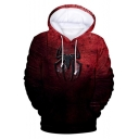 New Fashion Cool Spider Far From Home 3D Printed Long Sleeve Casual Red Hoodie