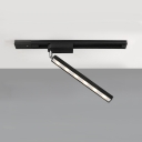 Rectangle Meeting Room LED Track Light Aluminum Simple Style Rotatable Ceiling Lamp in Warm/Neutral