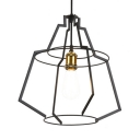 Single Light Wire Hanging Light Antique Metal Pendant Light Fixture for Dining Room