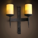 Vintage Style Wall Lamp with Candle Shape 2 Lights Metal Sconce Wall Light for Restaurant Bar