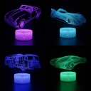 Off-Road Vehicle 3D Bedside Lamp Bedroom Gifts Touch Sensor Remote Control LED Night Light with 7 Color