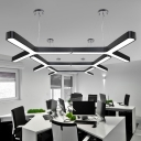 Cord Adjustable Low Glare 24W/30W/42W Cool White Light 6000K-6500K Modern Lighting in Black/Silver 11.81