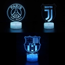 Soccer Element Pattern 3D Night Light with Touch Sensor 7 Color Changing LED Illusion Light for Birthday Gift