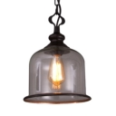 Cup Shape Restaurant Pendant Light Metal Glass 1/3 Lights Industrial Hanging Light in Black