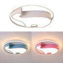 White/Pink/Blue LED Flush Mount Light Lovely Elephant Shape Ceiling Light for Girl Boy Room in Warm
