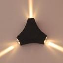 3/4 Heads Black Spot Light Hallway Stair High Brightness Wireless LED Sconce Light in White/Warm