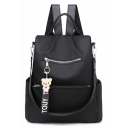 Women's Multi-function Backpack Anti-theft Oxford Cloth Travel Shoulder Bag 30*13*32 CM