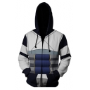 New Trendy Fashion Comic Anime Cosplay 3D Printing Long Sleeve Zip Up Hoodie