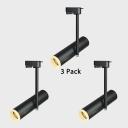 (3 Pack)Rotatable Tube LED Track Lighting 1 Head Aluminum Black/White Spot Light in White/Warm White for Bedroom