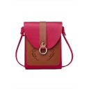 Fashion Color Block Carved Hollow Out Cell Phone Crossbody Bag 15*2.5*19 CM