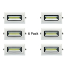 (6 Pack)20/30W Rectangle Recessed Down Light Wireless LED Flush Mount Recessed in White/Warm White