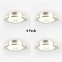 (4 Pack)3 Inch 7W Recessed Light Modern Round Slim Panel Light Fixture in White/Warm for Bedroom Dining Room
