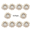 (10 Pack)Resin and Glass Ceiling Light Recessed with Heat Sink 2-4W Wireless LED Light Fixture Recessed in White/Warm White