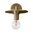 Single Light Open Bulb Wall Sconce Vintage Style Metal Sconce Light in Brass/Chrome/Black for Foyer
