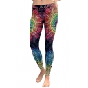 New Fashion Paisley Printed Stretch Fit Leggings