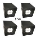 (4 Pack)Angle Adjustable LED Spot Light Black/White Rectangle COB Ceiling Light in White/Warm for Office