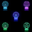 7 Color Changing LED Night Light Touch Sensor 7 Color Changeable Football 3D Bedside Light for Boy Girl Room Gift