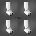 (4 Pack)Aluminum White LED Down Light Angle Adjustable Cylinder Ceiling Fixture in White/Warm White for Foyer
