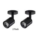 (2 Pack)White/Black/Silver LED Spot Light High Brightness Angle Adjustable Ceiling Light in White/Warm White