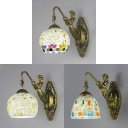Globe Sconce Light Vintage Style 1 Light Wall Sconce with Mermaid for Bedroom Living Room