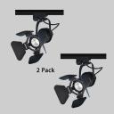 (2 Pack)Black/White/Brass Ceiling Lamp with Heat Sink 1 Head Aluminum LED Track Lighting in Warm White/White for Restaurant Bar