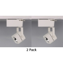 (2 Pack)1 Head Square/Circle Track Light Metal Rotatable Ceiling Light n White/Warm for Mall