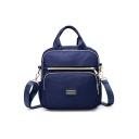 Women Casual Nylon Convertible Shoulder Bag Waterproof Travel Backpack 24*10*26 CM
