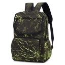 Unisex New Collection Allover Printed Nylon Travel Bag College Backpack 30*14*41 CM