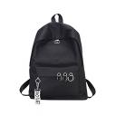 Fashion Letter Ribbon Ring Embellishment School Bag Backpack 29*12*40 CM