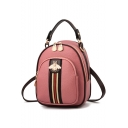 Elegant Classic Stripe Pattern Multipurpose Mini Shoulder Bag Backpack Handbag 17*10*22 CM