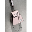 Stylish Smiley Face Pattern Crossbody Bag with Chain Strap 17*9*18 CM