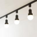 Gallery Showroom Rotatable Track Lighting 3/4 Lights Commercial Black/White LED Flush Mount Light