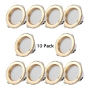 10 Pack 5W Recessed Light 3 Inch Aluminum LED Circle Flush Mount Light in Warm White for Dining Room Living Room