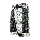Men's Summer Unique Arrow Printed Drawstring Waist Surf Beach Swim Shorts Swim Trunks