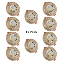 (10 Pack)2-4 Inch 3W Recessed Light Vintage Style Round Light Fixture Recessed with Flower Decoration in White/Warm
