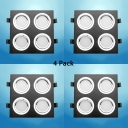 (4 Pack)12/28W Rectangle Recessed Light Wireless Aluminum LED Flush Mount Recessed in White/Warm for Kitchen Bathroom
